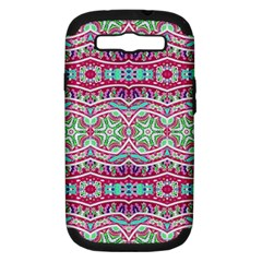 Colorful Seamless Background With Floral Elements Samsung Galaxy S III Hardshell Case (PC+Silicone)