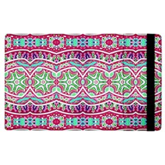 Colorful Seamless Background With Floral Elements Apple iPad 2 Flip Case