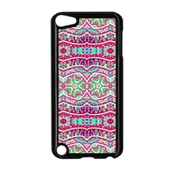 Colorful Seamless Background With Floral Elements Apple iPod Touch 5 Case (Black)