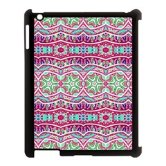 Colorful Seamless Background With Floral Elements Apple iPad 3/4 Case (Black)