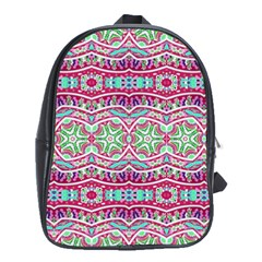Colorful Seamless Background With Floral Elements School Bags (XL)