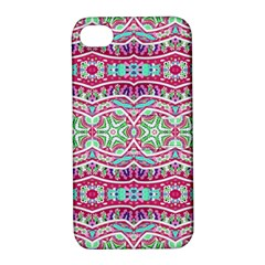Colorful Seamless Background With Floral Elements Apple iPhone 4/4S Hardshell Case with Stand