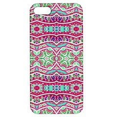 Colorful Seamless Background With Floral Elements Apple iPhone 5 Hardshell Case with Stand