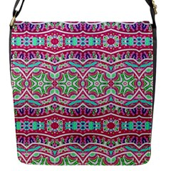 Colorful Seamless Background With Floral Elements Flap Messenger Bag (S)