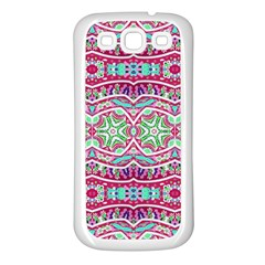 Colorful Seamless Background With Floral Elements Samsung Galaxy S3 Back Case (White)
