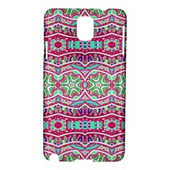 Colorful Seamless Background With Floral Elements Samsung Galaxy Note 3 N9005 Hardshell Case