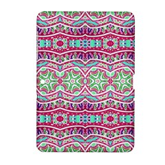Colorful Seamless Background With Floral Elements Samsung Galaxy Tab 2 (10.1 ) P5100 Hardshell Case