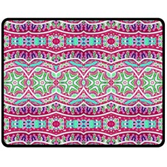 Colorful Seamless Background With Floral Elements Double Sided Fleece Blanket (Medium)