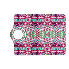 Colorful Seamless Background With Floral Elements Kindle Fire HD (2013) Flip 360 Case