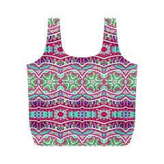 Colorful Seamless Background With Floral Elements Full Print Recycle Bags (M)