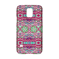 Colorful Seamless Background With Floral Elements Samsung Galaxy S5 Hardshell Case