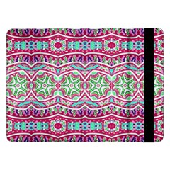 Colorful Seamless Background With Floral Elements Samsung Galaxy Tab Pro 12.2  Flip Case