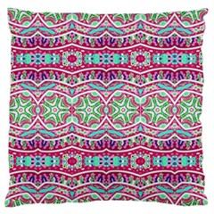 Colorful Seamless Background With Floral Elements Large Flano Cushion Case (One Side)
