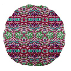 Colorful Seamless Background With Floral Elements Large 18  Premium Flano Round Cushions