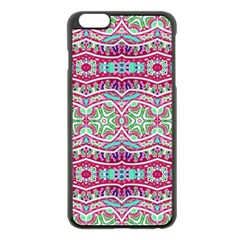 Colorful Seamless Background With Floral Elements Apple Iphone 6 Plus/6s Plus Black Enamel Case