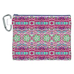 Colorful Seamless Background With Floral Elements Canvas Cosmetic Bag (XXL)