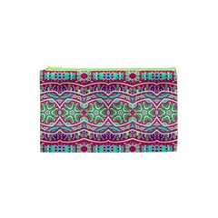 Colorful Seamless Background With Floral Elements Cosmetic Bag (XS)