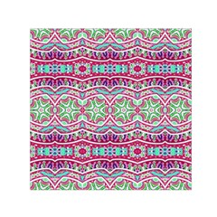Colorful Seamless Background With Floral Elements Small Satin Scarf (Square)