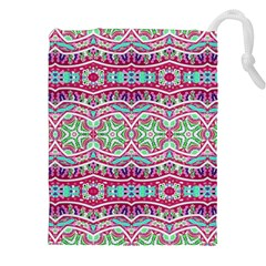 Colorful Seamless Background With Floral Elements Drawstring Pouches (xxl)