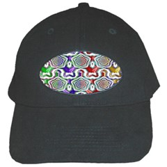 Digital Patterned Ornament Computer Graphic Black Cap