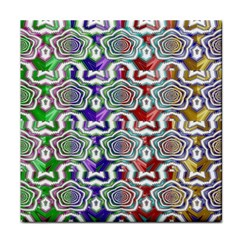 Digital Patterned Ornament Computer Graphic Tile Coasters