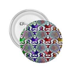 Digital Patterned Ornament Computer Graphic 2.25  Buttons