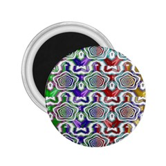 Digital Patterned Ornament Computer Graphic 2.25  Magnets