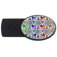 Digital Patterned Ornament Computer Graphic USB Flash Drive Oval (2 GB)