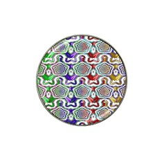 Digital Patterned Ornament Computer Graphic Hat Clip Ball Marker (4 pack)