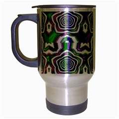 Digital Patterned Ornament Computer Graphic Travel Mug (silver Gray)
