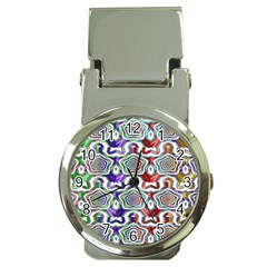 Digital Patterned Ornament Computer Graphic Money Clip Watches
