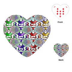 Digital Patterned Ornament Computer Graphic Playing Cards (heart)