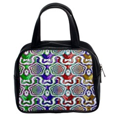 Digital Patterned Ornament Computer Graphic Classic Handbags (2 Sides)