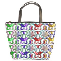Digital Patterned Ornament Computer Graphic Bucket Bags
