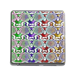 Digital Patterned Ornament Computer Graphic Memory Card Reader (square)
