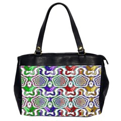 Digital Patterned Ornament Computer Graphic Office Handbags (2 Sides)