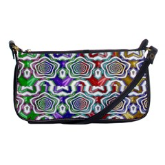 Digital Patterned Ornament Computer Graphic Shoulder Clutch Bags