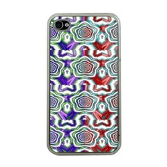 Digital Patterned Ornament Computer Graphic Apple iPhone 4 Case (Clear)