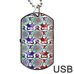 Digital Patterned Ornament Computer Graphic Dog Tag USB Flash (Two Sides)