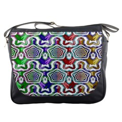 Digital Patterned Ornament Computer Graphic Messenger Bags