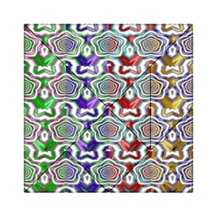 Digital Patterned Ornament Computer Graphic Acrylic Tangram Puzzle (6  x 6 )