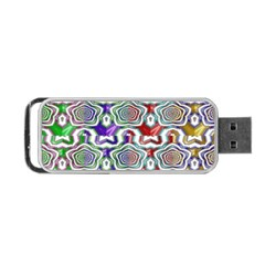 Digital Patterned Ornament Computer Graphic Portable Usb Flash (two Sides)