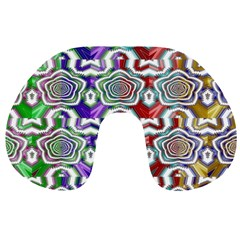 Digital Patterned Ornament Computer Graphic Travel Neck Pillows