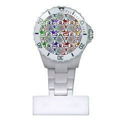 Digital Patterned Ornament Computer Graphic Plastic Nurses Watch