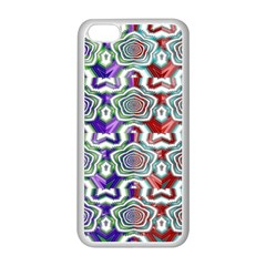 Digital Patterned Ornament Computer Graphic Apple iPhone 5C Seamless Case (White)