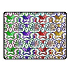 Digital Patterned Ornament Computer Graphic Double Sided Fleece Blanket (Small)