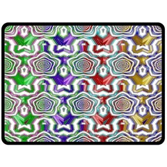 Digital Patterned Ornament Computer Graphic Double Sided Fleece Blanket (Large)