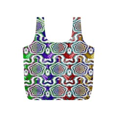 Digital Patterned Ornament Computer Graphic Full Print Recycle Bags (S)