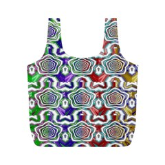 Digital Patterned Ornament Computer Graphic Full Print Recycle Bags (M)