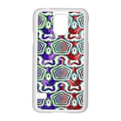 Digital Patterned Ornament Computer Graphic Samsung Galaxy S5 Case (White)